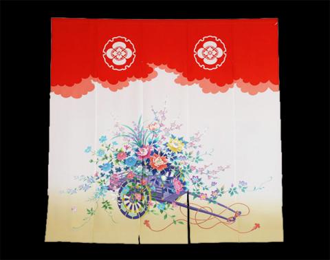 花嫁暖簾「花車II」